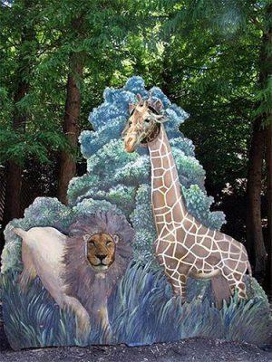 giraffe-lion