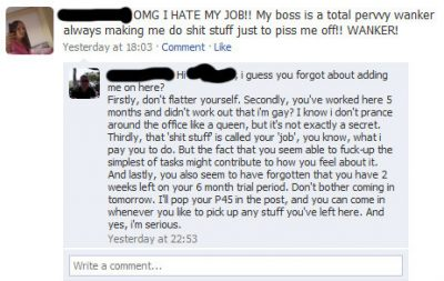 dont add your boss on facebook