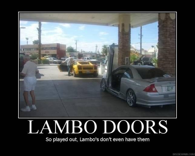 lambo doors are lame